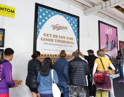 Street posters + social media = magic
